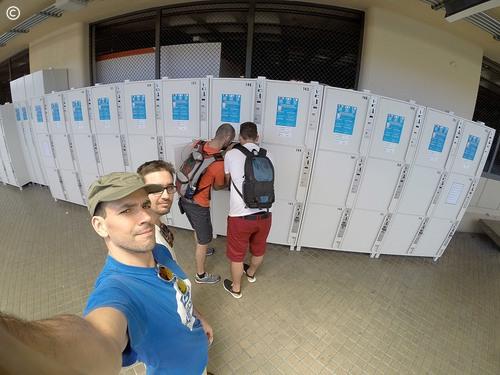 From Lisbon to Croatia - dia 3 - Barcelona - cacifos para arrumar a bagagem